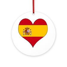 Spain Heart Ornament (Round)