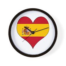 Spain Heart Wall Clock