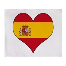 Spain Heart Throw Blanket