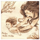 Baby mermaid Wrapped Canvas Art