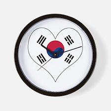 S. Korea Heart Wall Clock