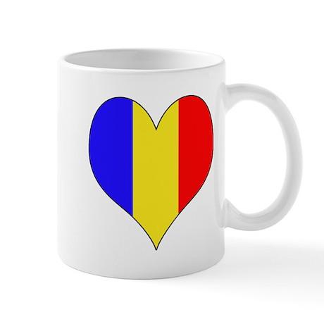 Romania Heart Mug