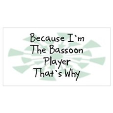 Because Bassoon Player Canvas Art