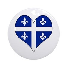 Quebec Heart Ornament (Round)