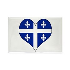 Quebec Heart Rectangle Magnet
