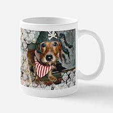 Puppy in Pirate Costume Mug