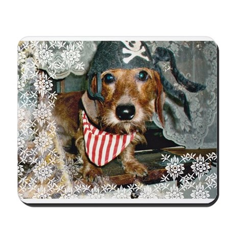 Puppy in Pirate Costume Mousepad