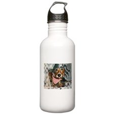Puppy in Pirate Costume Water Bottle