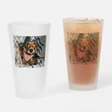 Puppy in Pirate Costume Drinking Glass