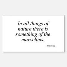 Aristotle quote 39 Rectangle Decal