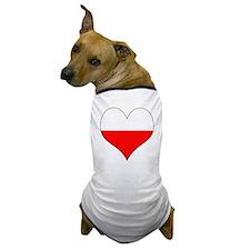 Poland Heart Dog T-Shirt