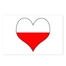 Poland Heart Postcards (Package of 8)