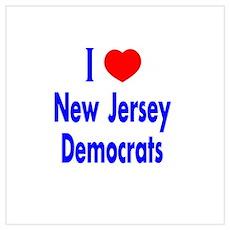 I Love New Jersey Democrats Poster