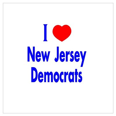 I Love New Jersey Democrats Framed Print