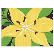 A Yellow Lilly Two Poster