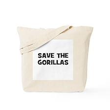 Save The Gorillas Tote Bag