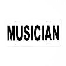 Musician Aluminum License Plate