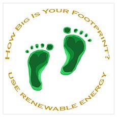 Carbon Footprint Renewable En Poster