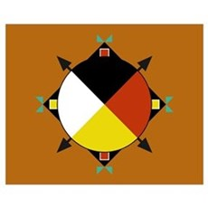 Cherokee Four Directions Flag Poster
