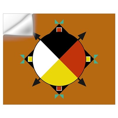 Cherokee Four Directions Flag Wall Decal