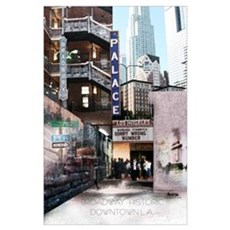 Downtown Los Angeles Broadway Poster