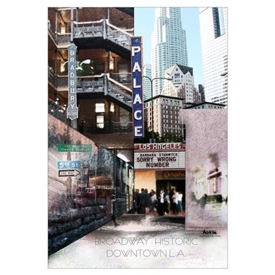 Downtown Los Angeles Broadway Canvas Art