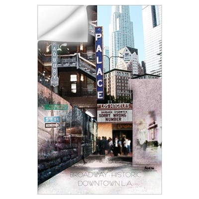 Downtown Los Angeles Broadway Wall Decal