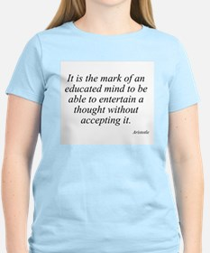 Aristotle quote 46 Women's Pink T-Shirt