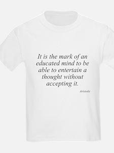 Aristotle quote 46 Kids T-Shirt