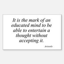 Aristotle quote 46 Rectangle Bumper Stickers