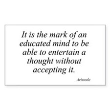 Aristotle quote 46 Rectangle Decal