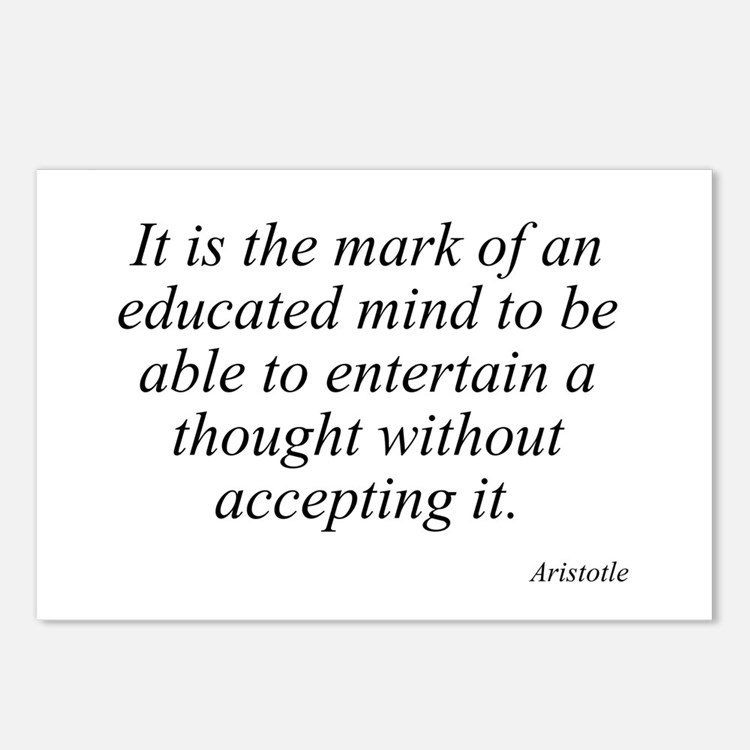 Aristotle quote 46 Postcards (Package of 8)