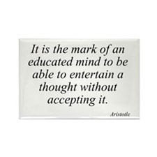 Aristotle quote 46 Rectangle Magnet