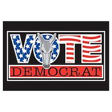 Vote Dem Donkey Poster