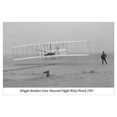 Wright Bros at Kitty Hawk Poster