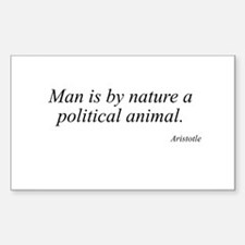 Aristotle quote 49 Rectangle Decal