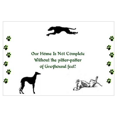 Greyhound Pitter-Patter Feet Poster