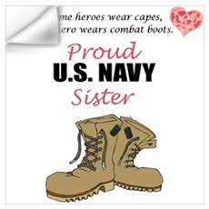 Proud US Navy Sister Wall Decal