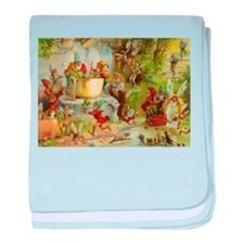In the Gnome Kitchen baby blanket