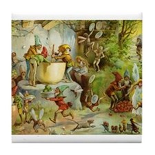 In the Gnome Kitchen Tile Coaster