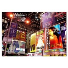 Broadway at Night Canvas Art