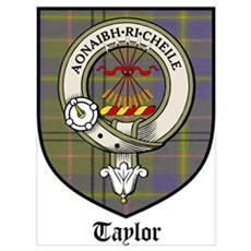 Taylor Clan Crest Tartan Poster