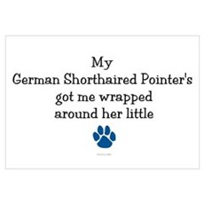 Wrapped Around Her Paw (German SH Pointer) Mini Po Framed Print