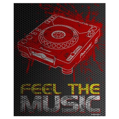 Pioneer CDJ Feel The Music Poster