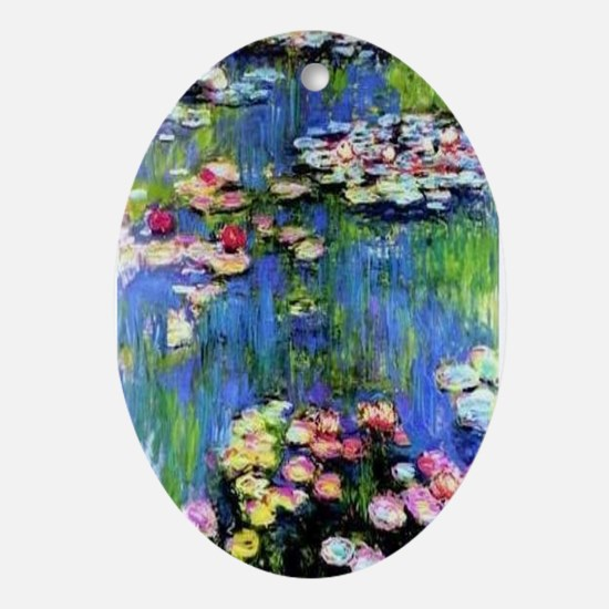 MONET WATERLILLIES Ornament (Oval)