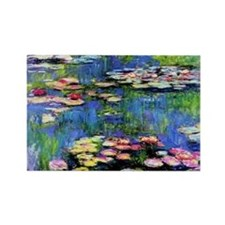 MONET WATERLILLIES Rectangle Magnet (100 pack)