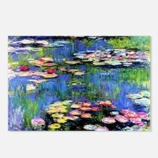 MONET WATERLILLIES Postcards (Package of 8)