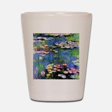 MONET WATERLILLIES Shot Glass