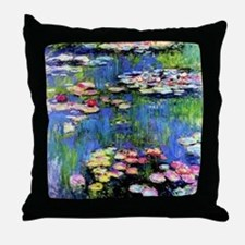 MONET WATERLILLIES Throw Pillow
