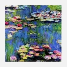 MONET WATERLILLIES Tile Coaster